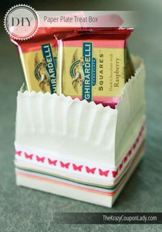 Charming DIY Paper Plate Treat Boxes
