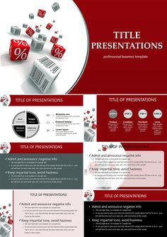 Actions and discounts PowerPoint templates