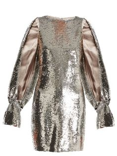 Poppy split-sleeved sequin-embellished dress | Osman | MATCHESFASHION.COM