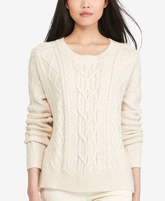 Polo Ralph Lauren Aran-Knit Crew-Neck Sweater