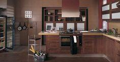 Porelanosa.. marrón oscuro... súper elegante para cocinas grandes