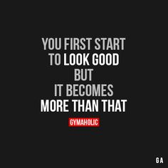 You First Start To Look Good More motivation -> http://www.gymaholic.co/ #fit #fitness #fitblr #fitspo #motivation #gym #gymaholic #workouts #nutrition #supplements #muscles #healthy