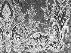 8 point Nottingham lace - Neo-Grec panel.  machine woven 1840s