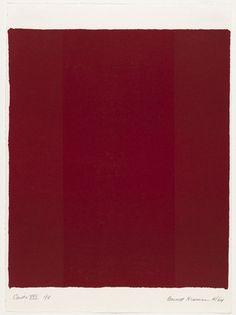 Barnett Newman, Canto XVII from 18 Cantos, 1964