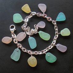 Seaglass Jewelry - Spring Garden pastel rainbow bracelet by Ecstasea, via Flickr