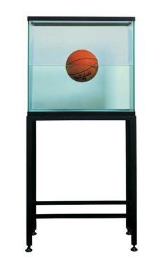 One Ball Tank (Spalding Dr. J Silver Series) glass, steel, distilled water, one basketball 64 x 30 x 13 inches x x cm Edition of 2 © Jeff Koons 1985 Neo Pop, Jeff Koons Art, Kitsch, Pop Art, Fashion Show Invitation, Ball Birthday Parties, Artistic Installation, Jewelry Quotes, Kid Party Favors