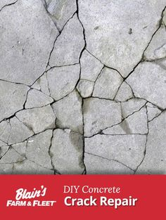 If the winter was harsh on your concrete driveway, repair the cracks with these . If the winter wa Diy Concrete Slab, Concrete Steps, Concrete Driveways, Concrete Projects, Stamped Concrete, Walkways, Diy Projects, Concrete Cover, Concrete Floors
