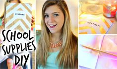 DIY Back to School Supplies! ♡ love everything in it ♡ NOT MY VIDEO! ~~~~ go watch it to get all the school essentials you will need. DIY SCHOOL
