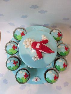 Aeroplane Cake - Chocolate mud cake, covered in chocolate ganache and decorated wit fondant.