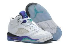 "https://www.hijordan.com/nike-retro-jordan-5-grapes-kids-sneakers-whiteemerald-green.html NIKE RETRO JORDAN 5 ""GRAPES"" KIDS SNEAKERS - WHITE/EMERALD GREEN Only $55.00 , Free Shipping!"