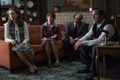 Vera Farmiga, Patrick Wilson, Simon McBurney and Frances O'Connor in The Conjuring 2
