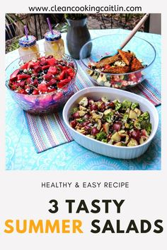 The three healthy salads I have below are also relatively easy for even the novice cook. They also all have a vegan / vegetarian option. I made the dishes pictured here almost completely plant-based vegan barbeque salads | summer salad recipes | easy and healthy summer salads | summer salads recipes for a crowd | summer salad ideas | summertime salad recipes #summersaladrecipes #easysaladrecipes