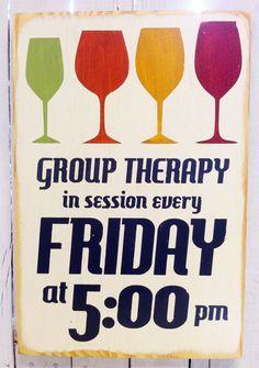 Terapia de grupo, todos los viernes a las 17hs - con Wine Up