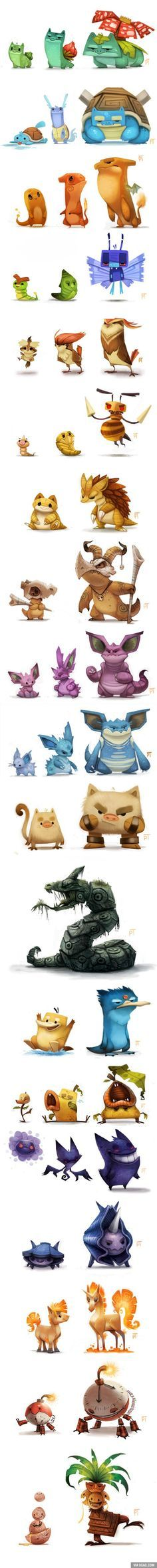 Insane Pokemon art (By Piper Thibodeau). Character design and concept art illustration. Fan Art Pokemon, Les Pokemon, Pokemon Remake, Game Character, Character Concept, Concept Art, Character Drawing, Illustration, Pokemon Pictures