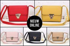 NIEUW: Schoudertasjes in vijf verschillende kleuren - shop online bij www.caressaa.nl