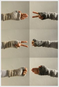 FREE Pattern - cozy hand and wrist sweaters - i love pom-poms blog