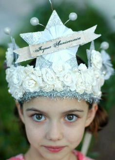FRENCH  JOYEUX ANNIVERSAIRE  Happy Birthday  Crown by Joosycardco, $48.00