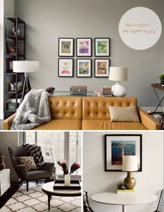 I think that chair in the bottom left photo might be made just for me. Structure with some comfy.