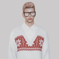 Pixel Glasses for The Sims 4 by Bearsims