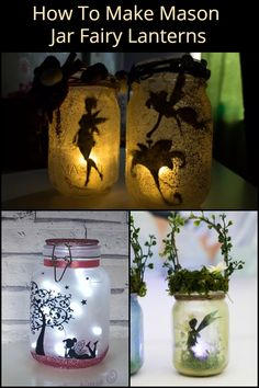 These mason jar fairy lanterns are perfect for your bedroom, living room, and ga. - Crafts - - These mason jar fairy lanterns are perfect for your bedroom, living room, and ga. Mason Jar Lanterns, Fairy Lanterns, Mason Jar Lighting, Mason Jar Fairy Lights, Mason Jar Projects, Mason Jar Crafts, Mason Jar Diy, Diy Crafts Jars, Pickle Jar Crafts
