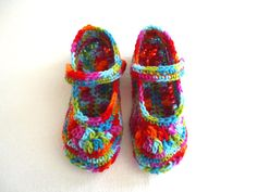 Woman's crochet slippers mary jane shoes by KeishasKreativity, $22.00 Love my mary jane shoes.
