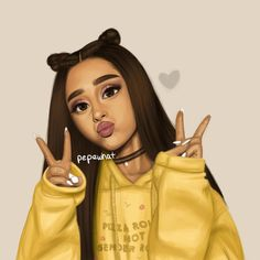 drawing of ariana grande (i didn't draw this) Ariana Grande Drawings, Ariana Grande Fotos, Ariana Grande Wallpaper, Ariana Grande Anime, Black Girl Art, Black Women Art, Girly Drawings, Cool Drawings, Image Swag