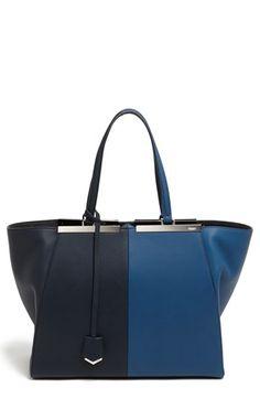 Fendi '3Jours' Bicolor Leather Shopper available at #Nordstrom