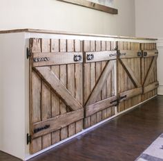 Pallet Kitchen Cabinets, Diy Cabinets, Diy Wooden Projects, Home Projects, Wooden Pallet Furniture, Diy Furniture, Rustic Kitchen Design, Kitchen Decor, Küchen Design