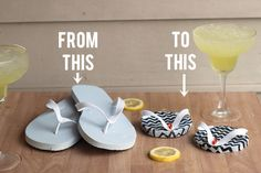one dollar flip flop coasters . how to-sday by Lindsay at Shrimp Salad Circus