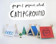 Paper & Popsicle Stick Campground Activity by Mer Mag | #KidsCraft Camp #Legocrafts #familycrafts