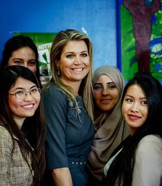 """victorysp:  Queen Maxima, patrono of the Orange Fund, visited the """"Rotterdam's Got Talent"""" project, which sponsors school dropouts, February 13, 2015"""