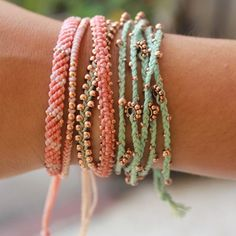 Mint och persika - den perfekta vårkombinationen. #armband #wakami #vår #WFTDay2015