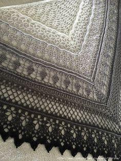 aadZNXrgYhY (480x640, 341Kb) Knitting Paterns, Crochet Stitches Patterns, Lace Knitting, Crochet Designs, Crochet Scarves, Crochet Shawl, Crochet Clothes, Crochet Hooks, Crochet Heart Blanket