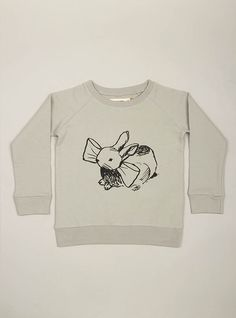 My little girl has this rabbit sweatshirt from Bobo Choses.