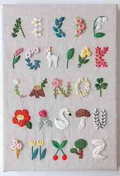 Crochet Patterns Needles Beautiful embroidery alphabet with flowers, llama, swan and many beautiful books …If you are seeking some wonderful cross stitch fonts ideas, this is the web page you should learn how you can make your own saucy sewed expre Embroidery Alphabet, Embroidery Hoop Art, Hand Embroidery Designs, Cross Stitch Embroidery, Embroidery Ideas, Indian Embroidery, Ribbon Embroidery, Simple Flower Embroidery Designs, Cross Stitch Font