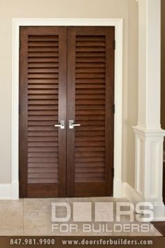 Builders millwork window provides closet doors double doors on interior door double solid wood with walnut finish classic model ddsolid double mahogany wood open louvered door that is pre hung and pre finished in planetlyrics Image collections
