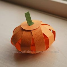 Make pumpkins out of cardstock. I did this at MOPS but had a green leaf at the top and different fall patterns for the cardstock. Loved it!