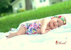 Non-Traditional Baby Swimsuit Portrait