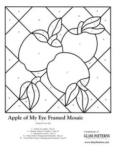 glass pattern stained glass Apple