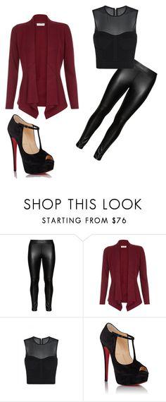 Designer Clothes, Shoes & Bags for Women Wet Look Leggings, Monsoon, Christian Louboutin, Shoe Bag, Studio, Polyvore, Collection, Shopping, Design
