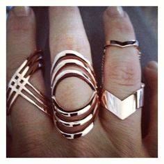 cool Instagram photo by @tomtomjewelry (Elena Howell)   Iconosquare Rings