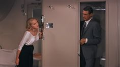Eva Marie Saint and Cary Grant in North by Northwest, 1959 North By Northwest, Classic Style, Cool Style, Classic Tv, Eva Marie Saint, Dress Picture, Knitting Designs, North West, Glamour