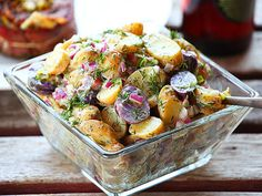 The Food Lab's Easy Fingerling Potato Salad with Creamy Dill Dressing #recipe
