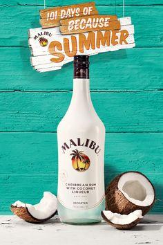 Where to buy - Malibu Rum Drinks Party Drinks, Fun Drinks, Alcoholic Drinks, Fruity Drinks, Drinks Alcohol, Refreshing Drinks, Cold Drinks, Malibu Coconut, Coconut Rum