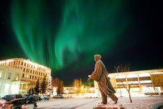 The Northern Lights swirl above the University of Alaska--Fairbanks | Photos | Best College | US News