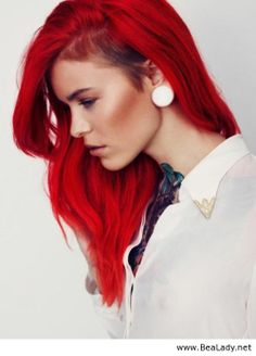 Shave part and red hair - BeaLady.net