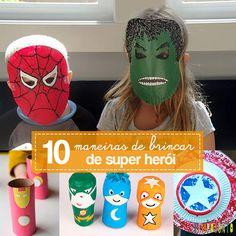 Tem vários jeitos diferentes de brincar de super-herói com as crianças. E nem vem achando que é coisa de menino. Meninas também vão adorar…