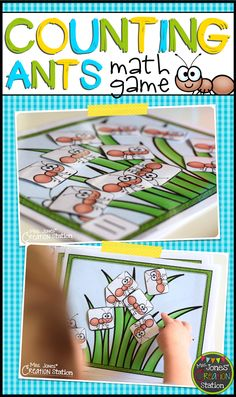 Counting Ants Math Game - fun math activity for preschool and kindergarten