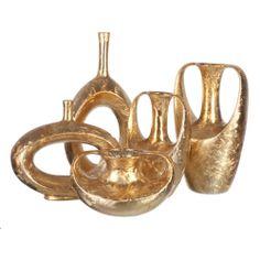 Jarrones Decorativos Dorados Duba