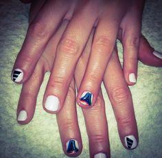 Get ready for Mundial 2014. nails, short nails, mundial, white, adidas